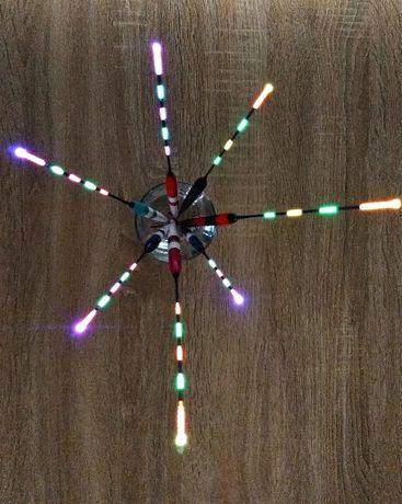 Pluta lumina LED pescuit noapte, fibra optica multicolor