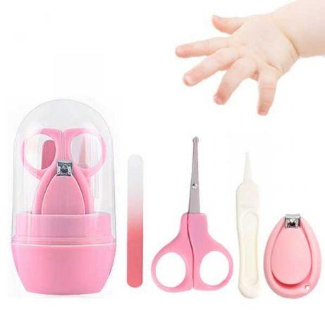Set de manichiură pentru bebeluşi şi copii roz sau albastru