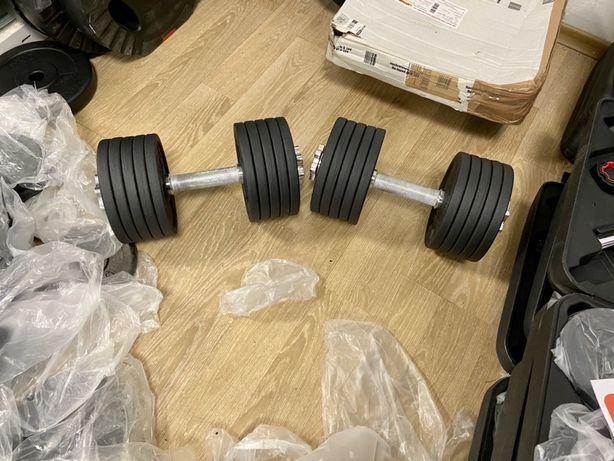 Gantere reglabile profesionale noi set 46 kg, 23+23=46 kg pret 750 ron