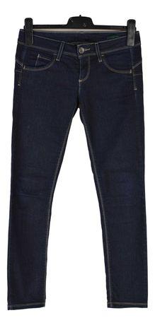 Blugi Dama Benetton Jeans Mairmea W28 L28 Albastri din Bumbac XP74