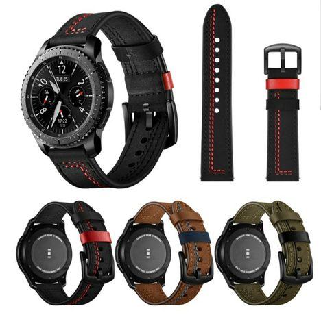 Каишка за Samsung Watch 3,Huawei Gt 2,Gt2 pro естествена кожа 22 mm