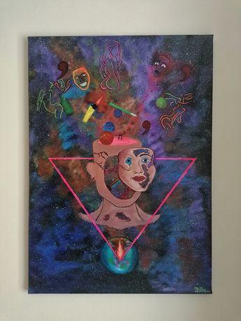 Pictura acrilica abstracta