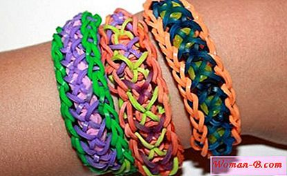 Цветни ластици за плетене на гривни 600бр.