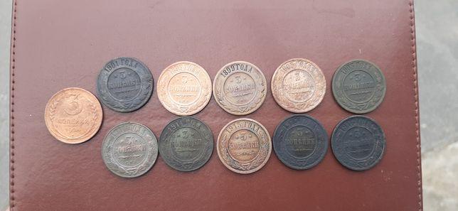 Медные монеты 3 копейки
