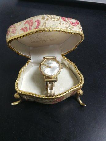 Ceas vintage glorys mecanic swiss made placat aur