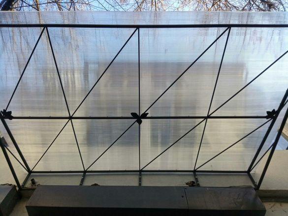 Навеси и козирки от метална основа + поликарбонат