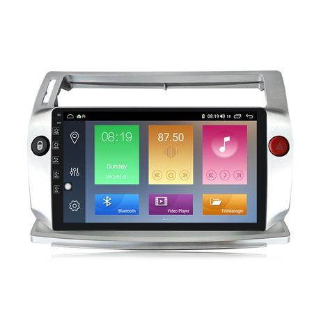 Navigatie Android 10.0 Citroen C4 2004 - 2009 GPS WAZE 9 inchi