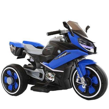 Motocicleta electrica pentru copii BJ618 60W 6V STANDARD #Albastru