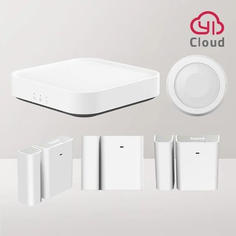 Kit Smart Home Securitate Yi Kami, wifi, PIR, 4 senzori, usi, ferestre
