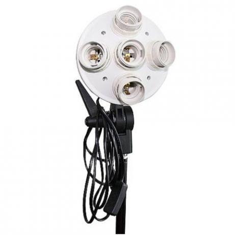 Lampa studio cu 5 socluri E27 pt studio, videochat, fotografie produs