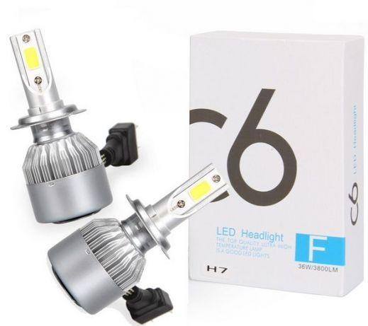 LED диодни крушки 2 броя 36w 7600lm H1 H4 H7 H11 HB3 HB4 12V