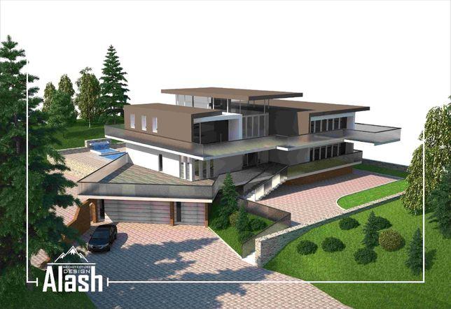 от 50 000 тг Эскизный проект дома Архитектурное проектирование АПЗ