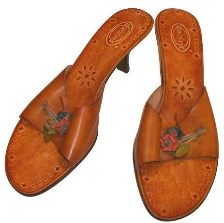 Vand papuci de dama, din piele, noi