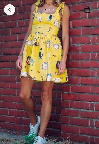 Нова свежа жълта рокля Gang - размер 38
