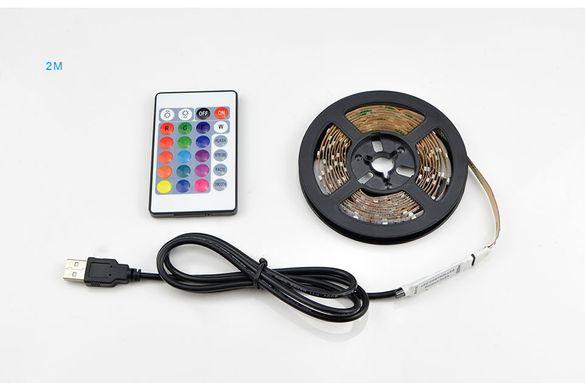 USB LED лента RGB самозалепваща с дистанционно и контролер