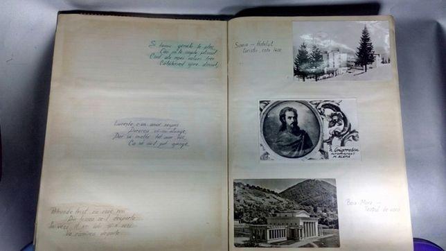 Cãrți poştale Clasor colecție vederi alb negru și color cu 200 piese