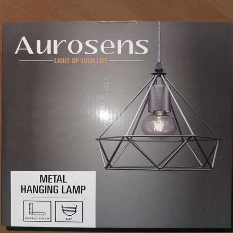 Атрактивен метален лампион индустриален стил от Aurosens