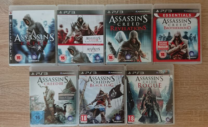 < PS3 > Assassin's Creed 3 / Black Flag / Rogue за PlayStation 3 гр. Казанлък - image 1