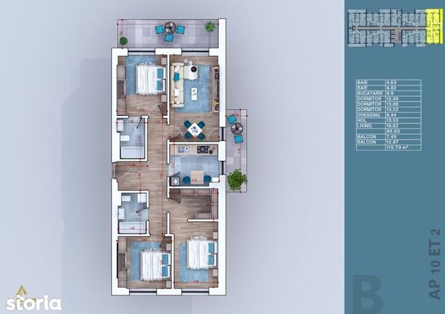 Apartament, vanzare, 4 camere, 116 mp, Pallady, Titan, Sector 3