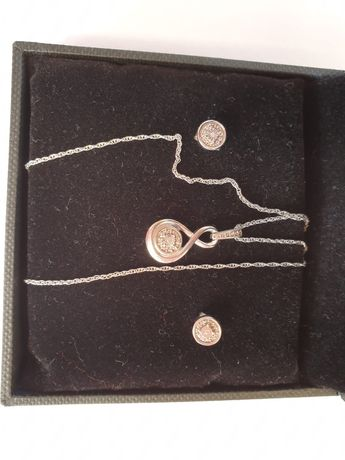 Vand set NOU (nepurtat) argint 925, cu diamant