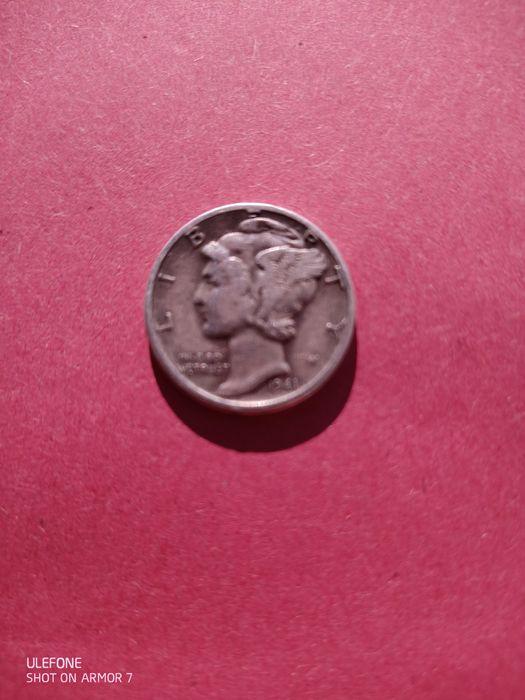 Moneda 1941 D 10 C Doubled Die extrem de rară Timisoara - imagine 1