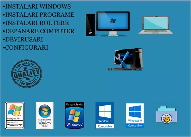 Depanare calculatoare pc/laptop instalare windows la domiciliu