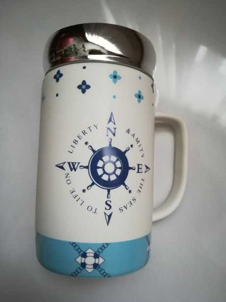 Cana ceramica nautic cadou accesoriu bucatarie