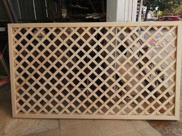 Дървена решетка