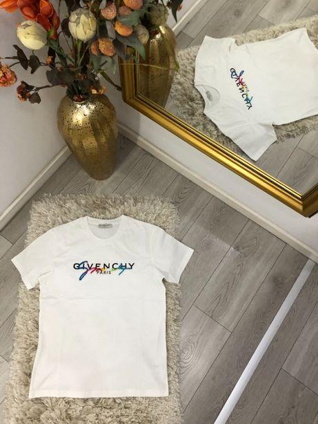 tricou Givenchy colectia noua TOP bumbac 100% alb/negru