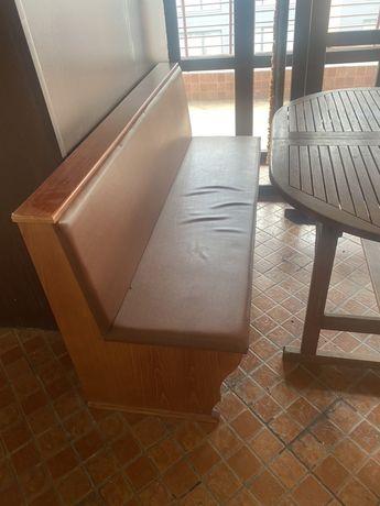 Канапе/диван от масив с тапицерия
