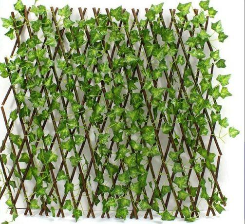 Panouri gard viu cu frunze de iederea extensibile artificiale