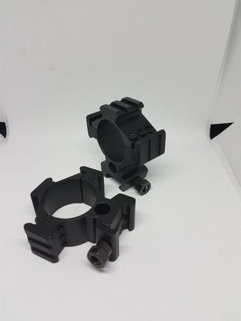 inele tactice 35mm / 30mm montaj luneta arma vanatoare sina tripla
