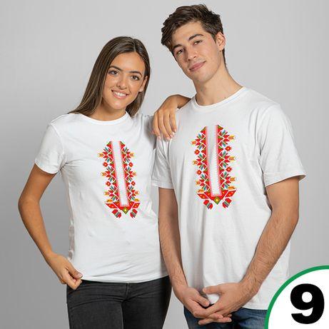 Комплект тениски за двойки с шевици