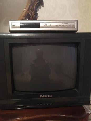 Работещ телевизор NEO 14 инчa + сателитен приемник АКИВА