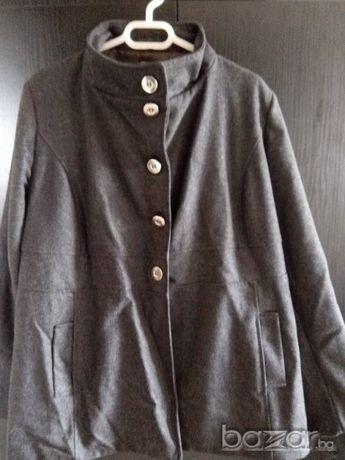 Тъмно сиво палтенце - голям размер