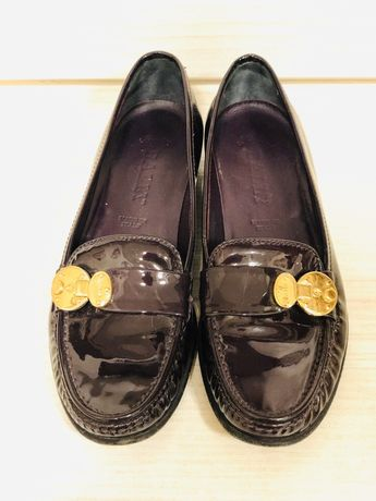 Pantofi/ Balerini piele marca Bally mar. 34,5, merg la 35