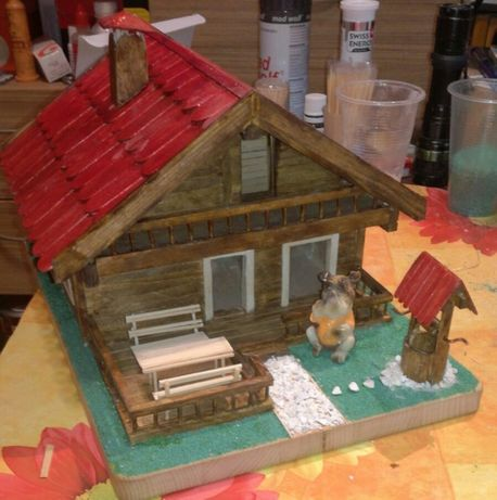 Дървена къща-макет
