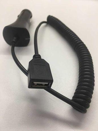 Зарядно устройство с USB, от автомобилната запалка, с дълъг кабел