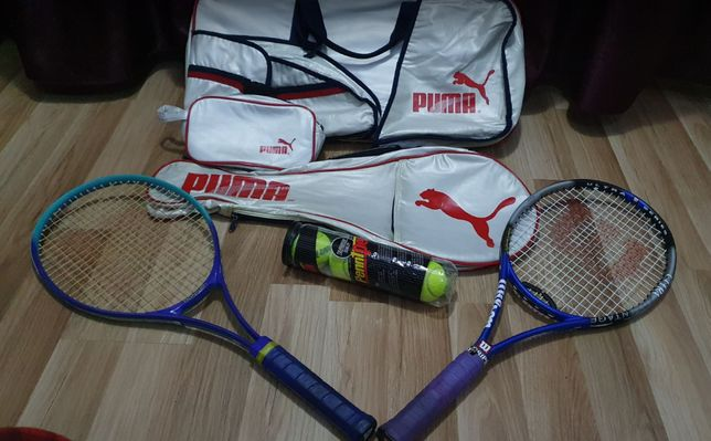 Set Tenis de Camp Rachete Geanta Mingii