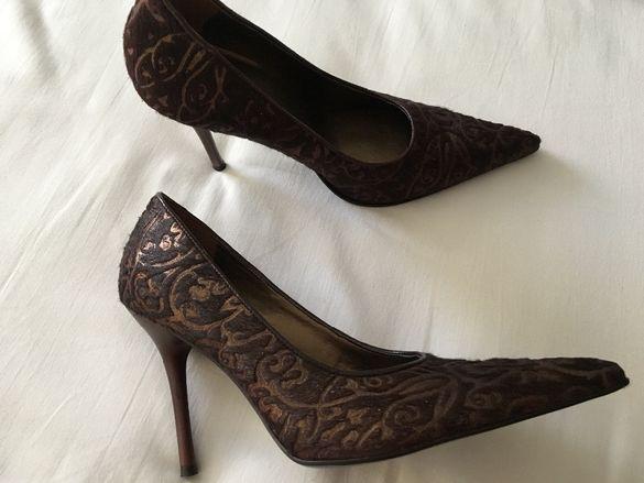 Нови Дамски обувки ALDO естествен КОСЪМ 37 номер