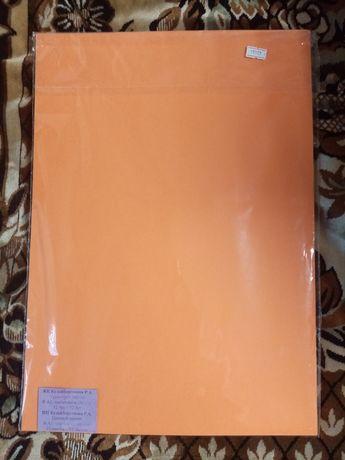Цветная плотная бумага, школьникам