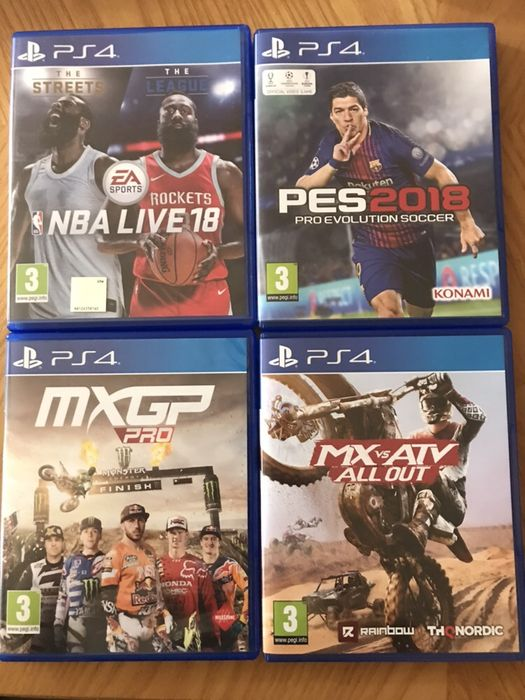 Jocuri Ps4 Pes 2018,Nba 2018,MX vs ATV all out,MXGP PRO,WWE 2019 Bucuresti - imagine 1
