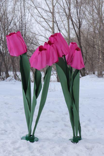Изготовление ростовых тюльпанов,нарциссов,гвоздик для фото зон