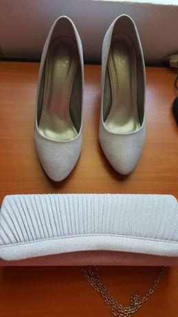 Set pantofi cu plic arginti