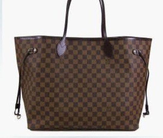 Genți Louis Vuitton Neverfull piele 100%naturală,saculet,factură/Frant