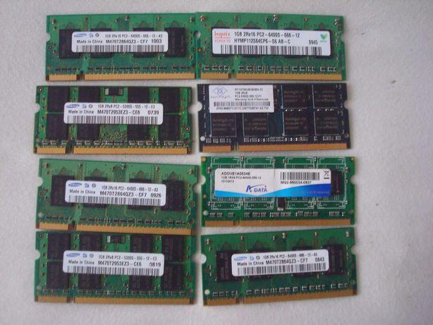 Memorie Laptop DDR2 de 2GB kit 2x1 GB PC-2 667Mhz 800MHz