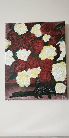 Картини-кораб и рози