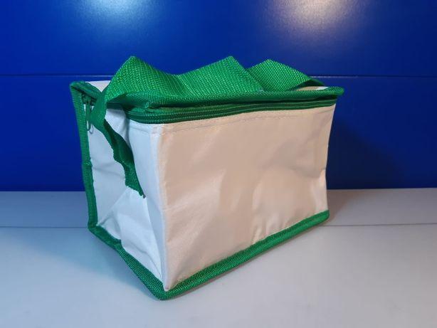 Geanta termoizolanta voiaj alb, verde , 20 x 13 x 14 cm