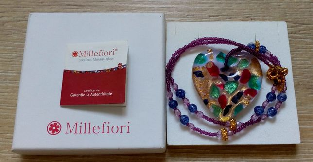 Colier Millefiori Murano - livrare numai in Bucuresti