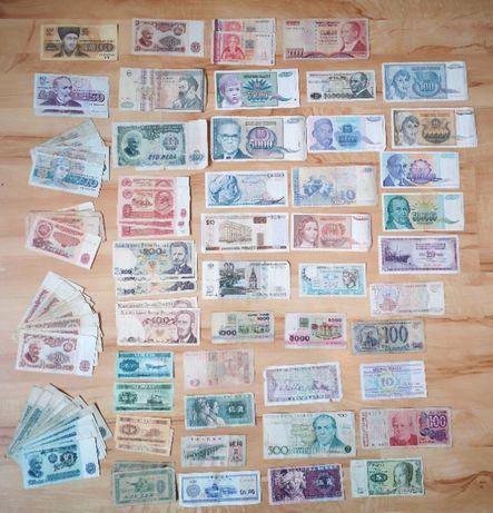 Лот 99 банкноти от 16 страни по света валута